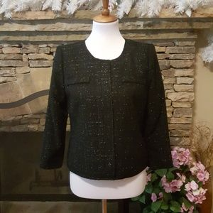 Laundry by Shelli Segal Black Jacket With Sparkles